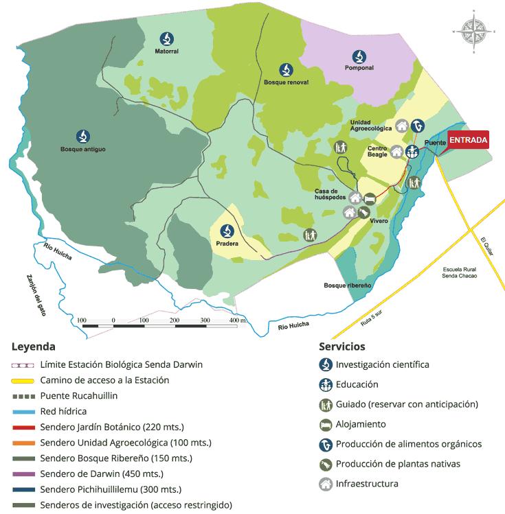 Mapa Estación Biológica Senda Darwin