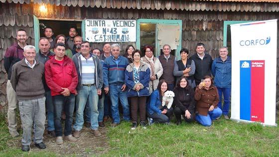 Asamblea de validación en Catrumán