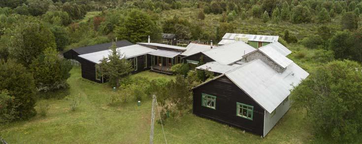 Vista aérea casa de huéspedes