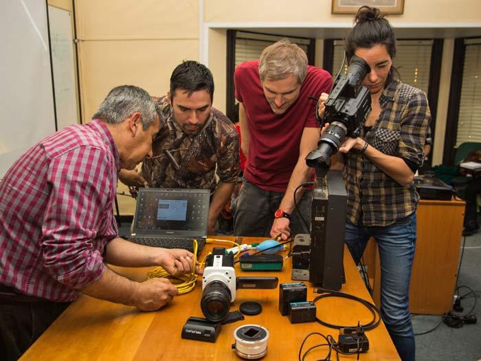 Taller audiovisual en Valdivia - Clase de Juan