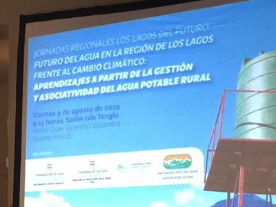 """Título de la presentación: """"Aprendizajes a partir de la gestión y asociatividad del agua potable rural"""""""