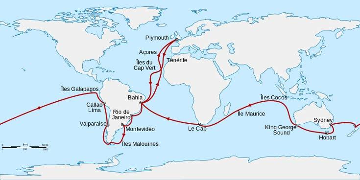 viaje del beagle y darwin